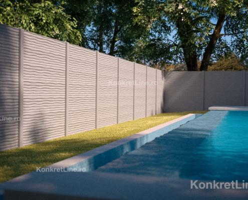Gard prefabricat din beton - Dune (KM201)