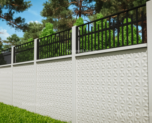 Gard prefabricat din beton - Flower (KM200)