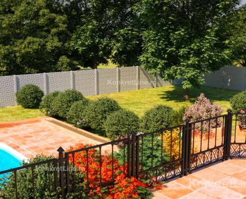 Gard prefabricat din beton - Good Mood (KM204)