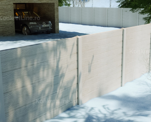 Gard prefabricat din beton - Lightwood (KM300)